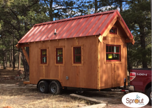 Sprout Tiny Homes can be pulled by a 1/2 ton pickup.